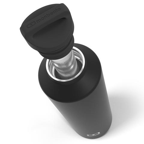 Термос с ситечком для заварки MB Steel 500 мл. черный оникс