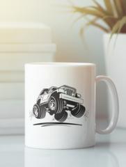 Кружка с рисунком Jeep (Джип) белая 0010