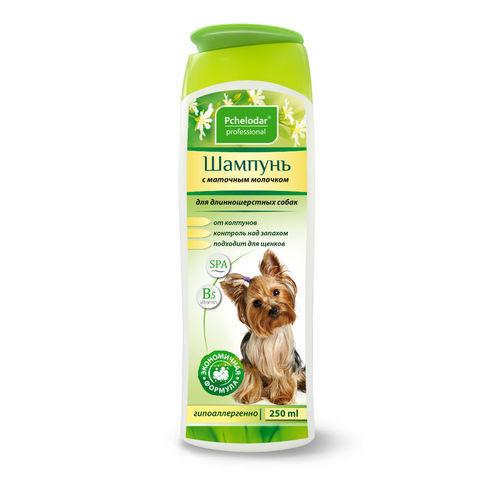 Пчелодар гигиенический шампунь с маточным молочком для длинношерстных собак