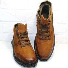 мужские зимние ботинки на толстой подошве на натуральном меху