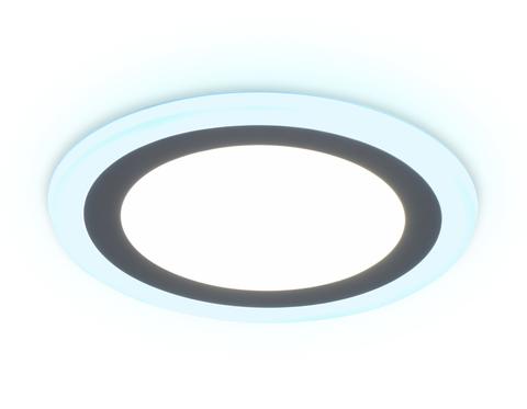 Встраиваемый cветодиодный светильник с подсветкой DCR368 18W+6W 4200K/6400K 85-265V D245*28