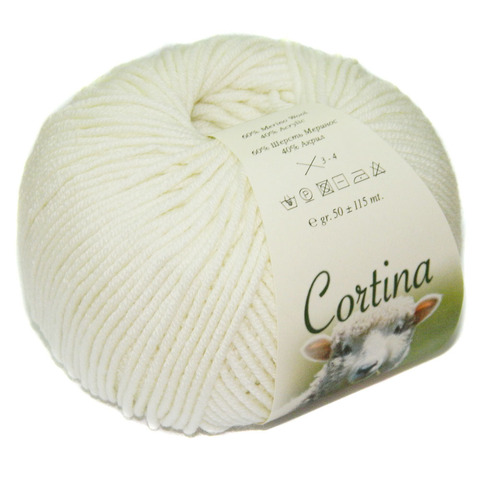 Купить Пряжа Filati Cortina Код цвета 001 | Интернет-магазин пряжи «Пряха»