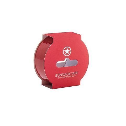 Shots Лента для связывания красная 20 метров Non Sticky Bondage Tape Red