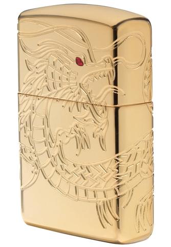 Зажигалка Zippo Armor™ с покрытием High Polish Gold Plate, латунь/сталь, золотистая, 36x12x56 мм123