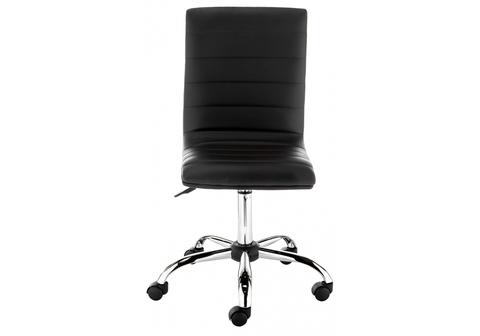 Офисное кресло для персонала и руководителя Компьютерный стул Midl черный 40*40*90 Хромированный металл /Черный