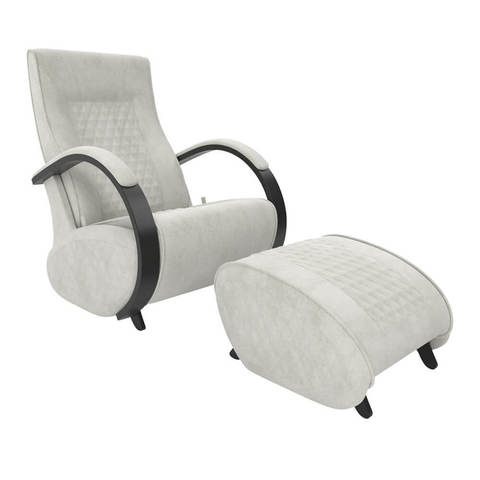 Кресло глайдер Balance 3 с пуфиком, ткань (с накладками)