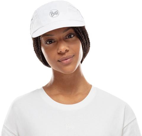 Спортивная кепка для бега Buff Pro Run Cap Solid White фото 2