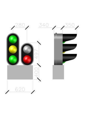 СвеТТофор 87010 Пятизначный карликовый светофор, 1:87