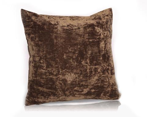 Подушка декоративная Бархат темно-коричневый