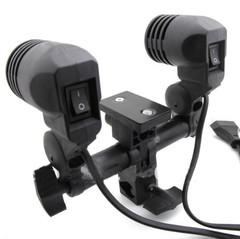 Патрон на стойку для двух ламп NiceFoto FLH-02