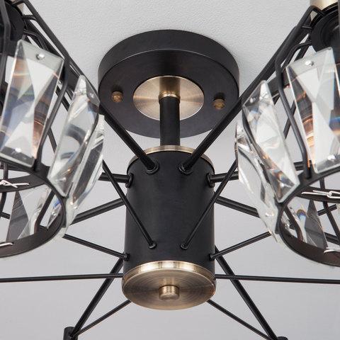 Потолочная люстра в стиле лофт 70075/8 черный