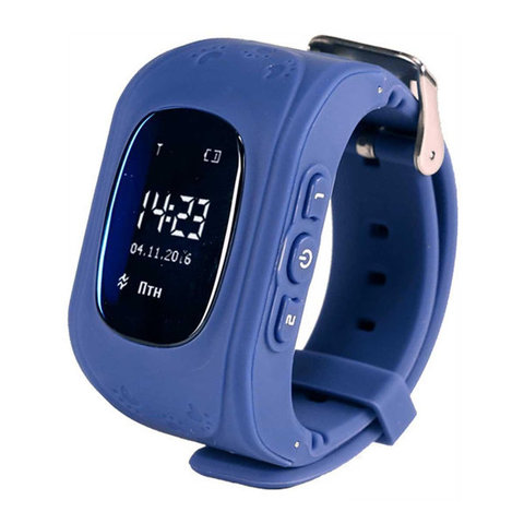 Детские часы с GPS Smart Baby watch Q50 (Dark Blue)
