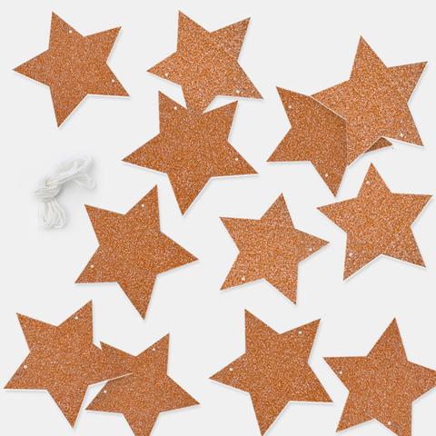 Гирлянда-подвеска Звезда, Розовое Золото