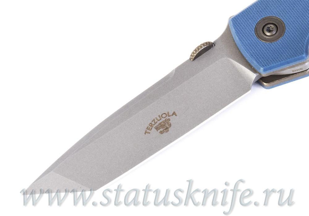 Нож Bob Terzuola ATCF Tanto Slate Blue Drop - фотография