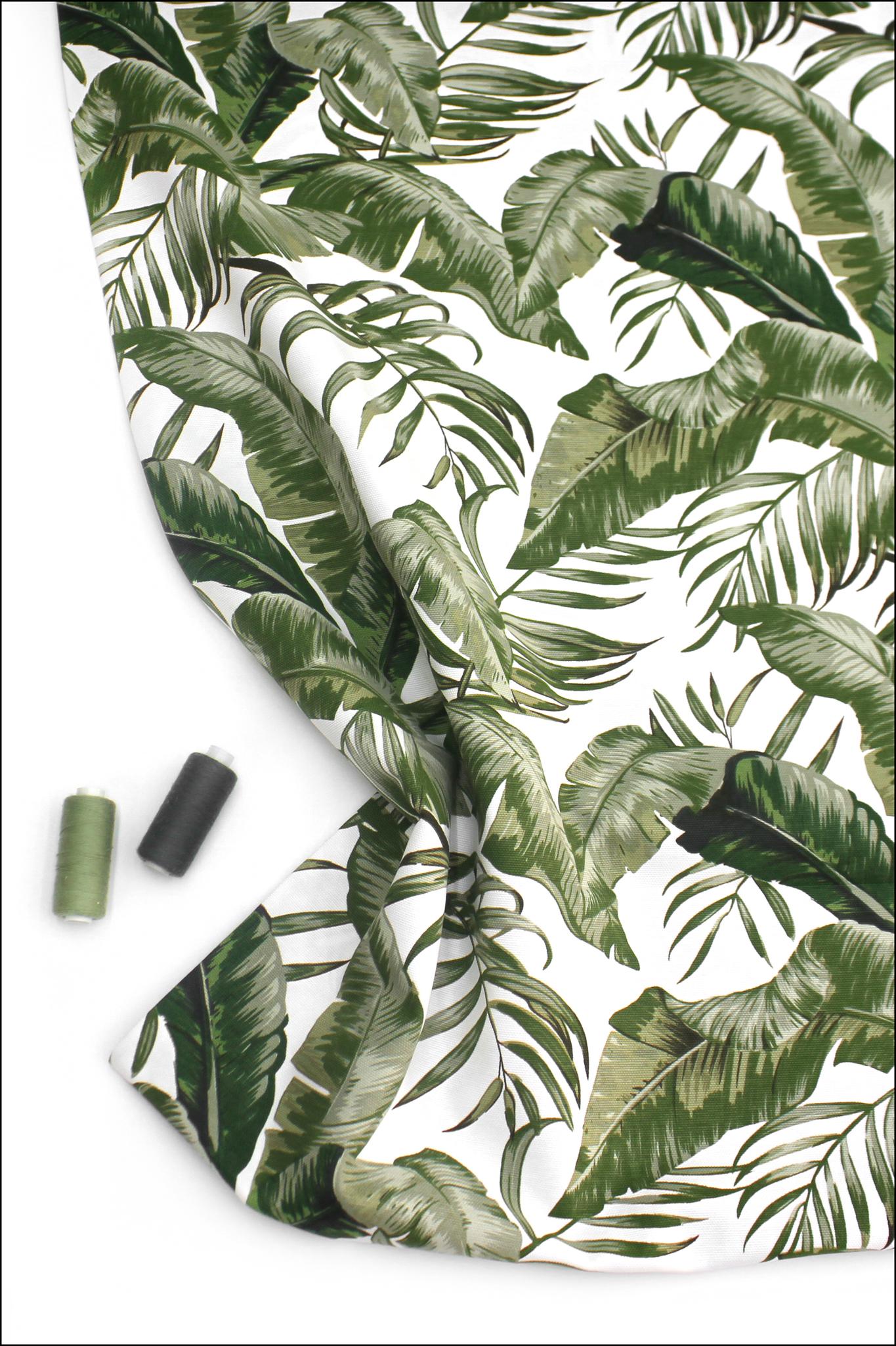 Банановые листья, интерьерная ткань с тефлоновым покрытием,180 см(Duck,Турция)