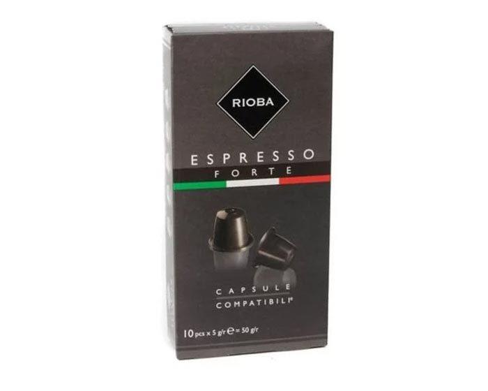 Кофе в капсулах Rioba Espresso Forte, 10 капсул для кофемашин Nespresso