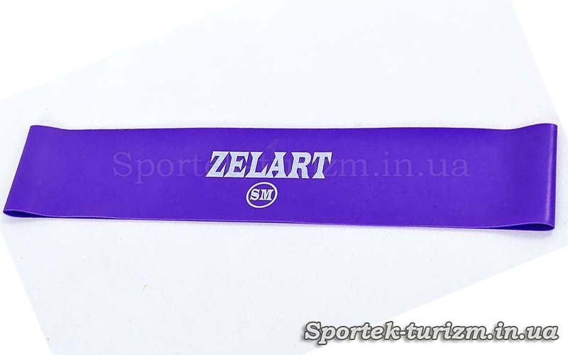 Резинка для фитнеса ZELART BANDS фиолетовая (жесткость SM, 500x50x0.5 мм)