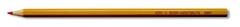 Карандаш офисный 3431, красный, корпус желтый