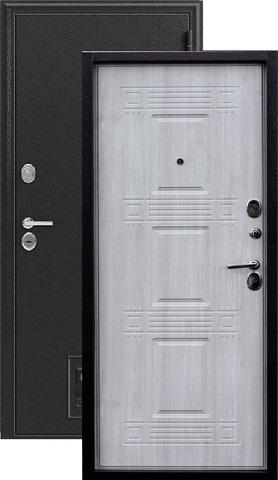 Дверь входная Зевс Z-6, 2 замка, 2 мм  металл, (серебро+дуб седой)