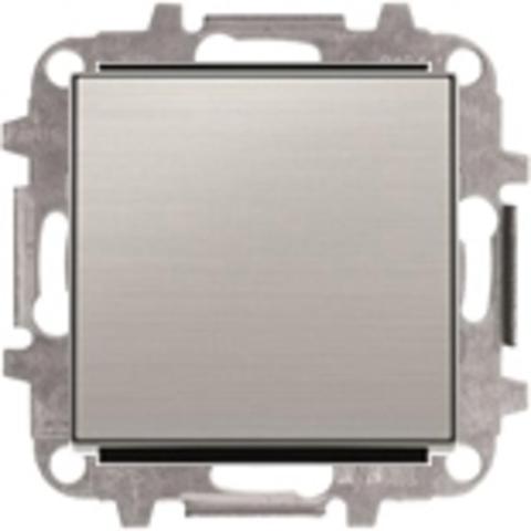 Выключатель одноклавишный. Цвет Нержавеющая сталь. ABB Sky. 8101+2CLA850100A1401