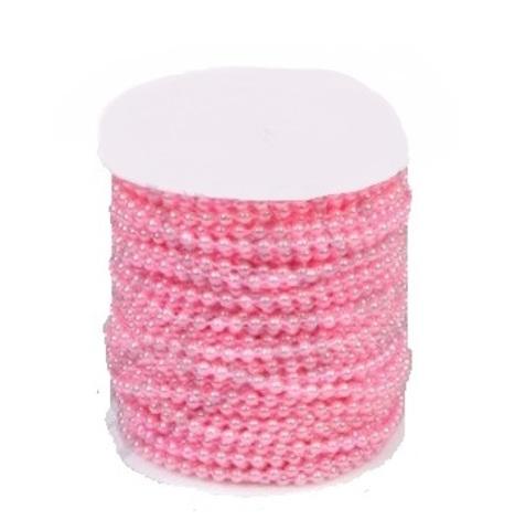 Бусы на бобине (размер: 4мм х 40м) Цвет:розовый