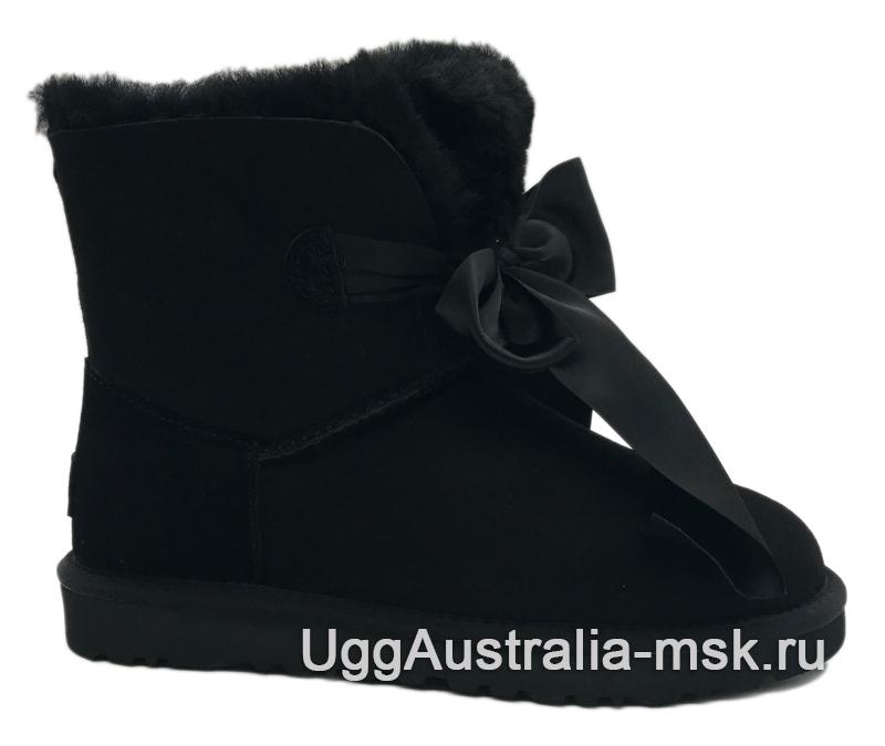 UGG Gita Bow Mini Boot Black