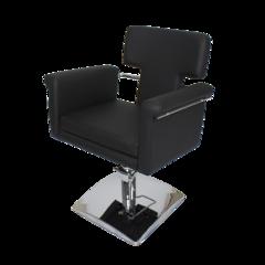 Парикмахерское кресло МД-77А гидравлика хром, квадрат хром, съемная подушка сиденья