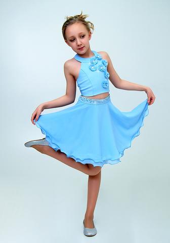 Костюм детский (юбка+топ) (артикул 2Н61-3)