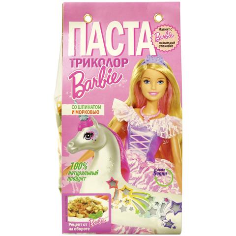 Barbie Макароны Триколор со шпинатом и морковью 300г