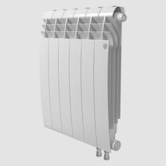Биметаллический радиатор с правым нижним подключением Royal Thermo Biliner 350 V Bianco Traffico (белый)- 8 секций