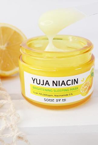 Осветляющая ночная маска с экстрактом юдзу Some By Mi Yuja Niacin Brightening Sleeping Mask 60г