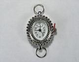 Основа для часов, металлическая, 31x21 мм, посеребренная, 1 шт.