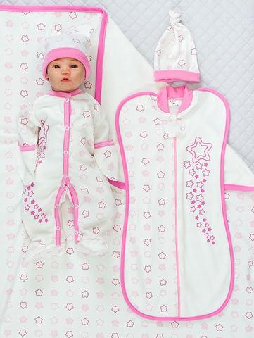 Набор для новорожденных Звёздочка - 5 предметов (крем/розовый)