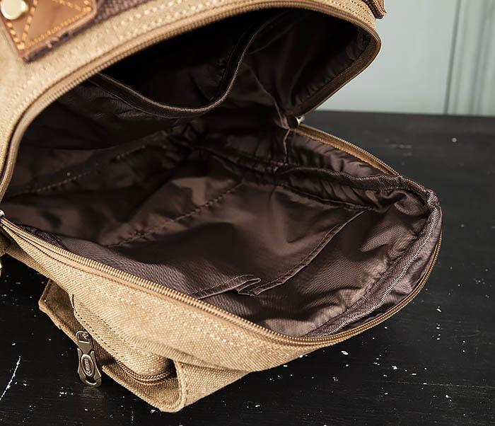 BAG394-2 Коричневый городской рюкзак с одной лямкой через плечо фото 14