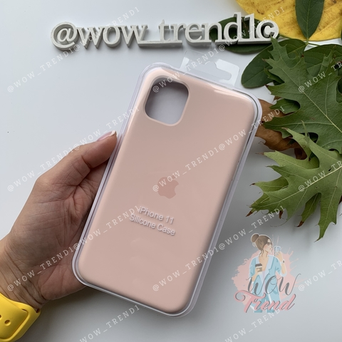 Чехол iPhone 11 Silicone Case /pink sand/ розовый песок original quality