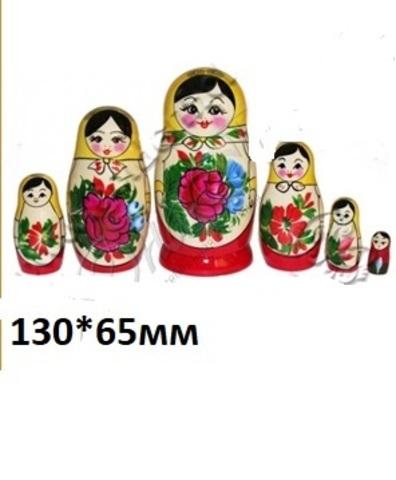 Матрёшка 6-ти кукольная арт.8005 (Хохлома)