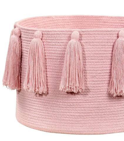 Корзина Lorena Canals Tassels Pink (30 x Ø45 см)