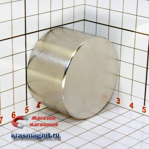 Неодимовый магнит диск 50x30 мм N-45