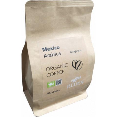 Blues Coffee, кофе органический в зернах, Mexico Organic, 200 гр