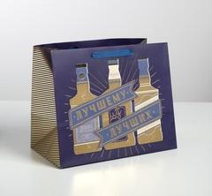 Пакет ламинированный «Лучшему из лучших», 30,5 × 25,5 × 18 см, 1 шт.