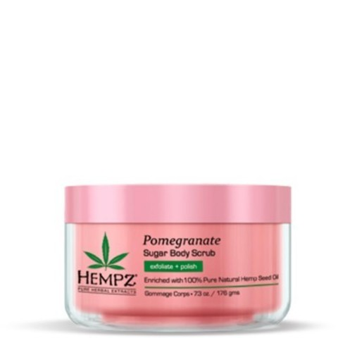 Hempz - Средства для душа: Скраб для тела Сахар и Гранат (Body Scrub - Sugar & Pomegranate), 176г