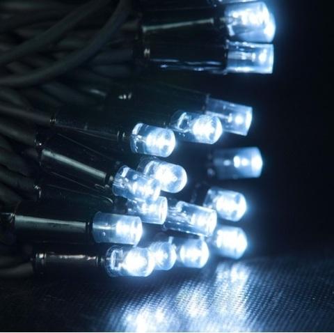 Нить гирлянда уличная светодиодная лед LED купить оптом