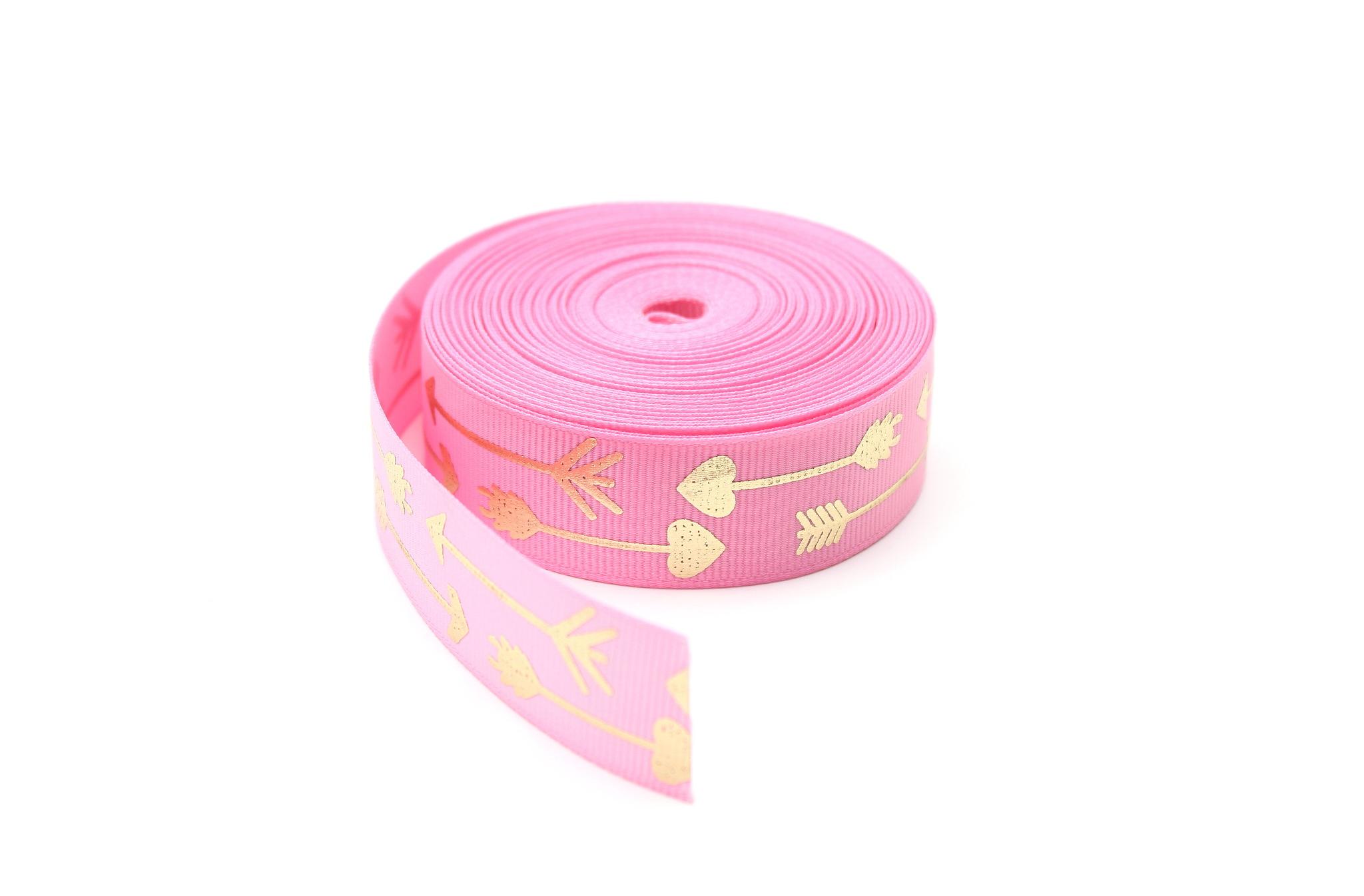 Лента стрела розовая