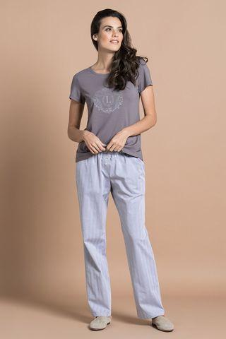 Пижама 51705 серо-коричневый Laete