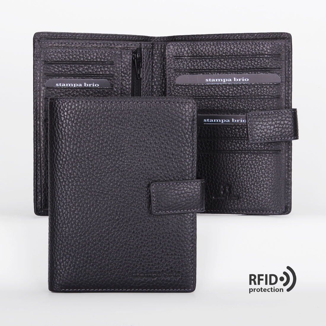 602 R - Портмоне вертикальное 5в1 с RFID защитой