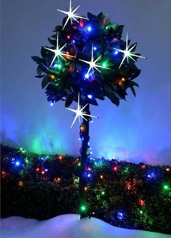 Каучуковая гирлянда с мерцанием нить на толстом проводе 10 метров вот так выглядит на дереве LED