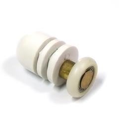 Ролик для душевой кабины и гидролокатора B-06-A 19мм. Простая конструкция, латунный шток, ролик не съемный полиуретановый на закрытом подшипнике.