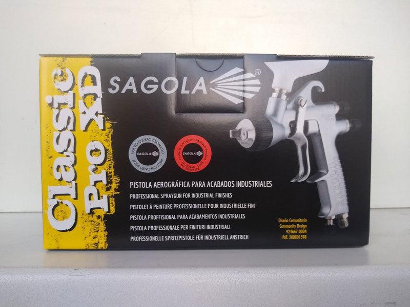 Краскопульт SAGOLA CLASSIC PRO XD с дюзой 1.4  коробкка