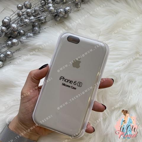 Чехол iPhone 6+/6s+ Silicone Case /stone/ светло-серый 1:1