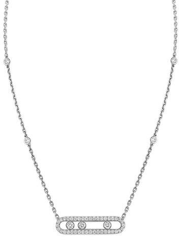 32933- Колье из серебра Move с двигающимися цирконами